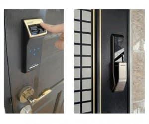 نصب قفل دیجیتال بر روی درب های ضدسرقت (قفل دیجیتال ضدسرقت)