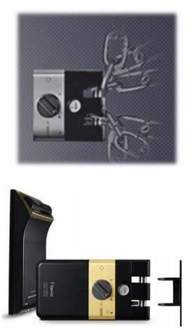 قفل دیجیتال مجهز به زبانه هوک