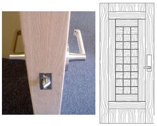 مشخصات درب جهت نصب قفل الکترونیکی