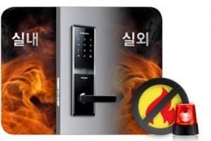 آلارم هشدار حریق و باز شدن درب ورودی به صورت اتوماتیک برای خروج اضطراری