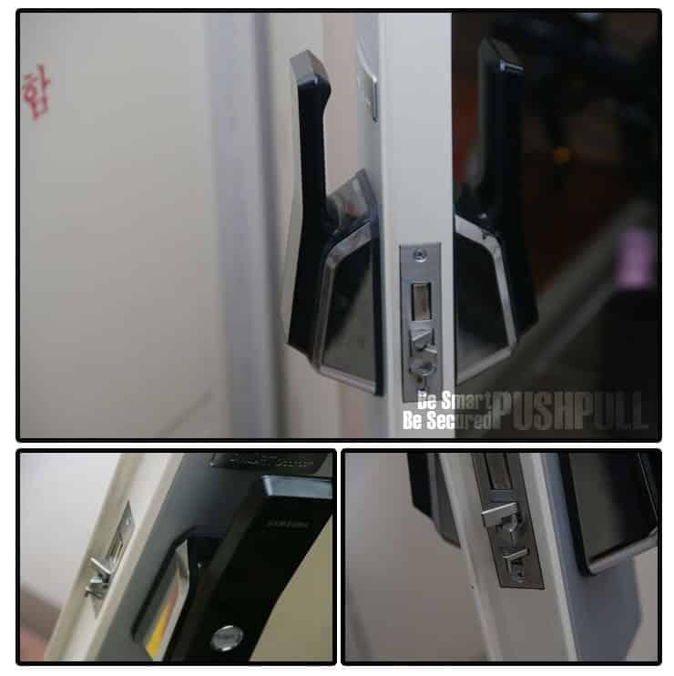 قفل دیجیتال سامسونگ مدل SHS-P520 کارتی با دستگیره PULL-PUSH