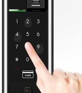قفل دیجیتال H-GANG مدل GURRDIAN-TM901 کارتی و اثرانگشتی همراه با کلید مکانیکی