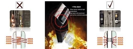 قفل دیجیتال گیت من مدل F10 اثر انگشتی بدون دستگیره (شب بند دیجیتال)