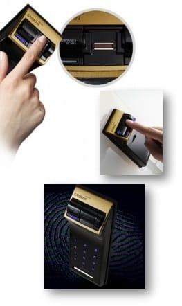 قفل دیجیتال گیت من مدل F50-FD اثرانگشتی بدون دستگیره (شب بند دیجیتال)