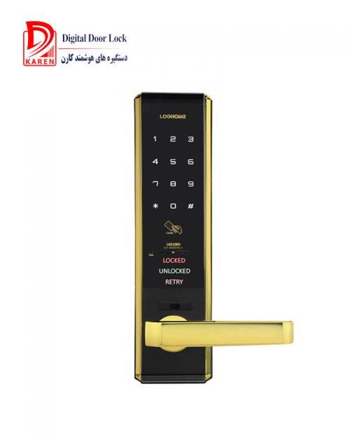 قفل دیجیتال اورنت مدل LH2100 رمزی و کارتی با درج اطلاعات تماس کارن