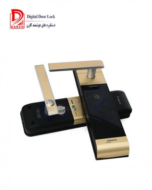 قفل دیجیتال گیت من مدل V300-FH کارتی و رمزی مجهز به زبانه هوک