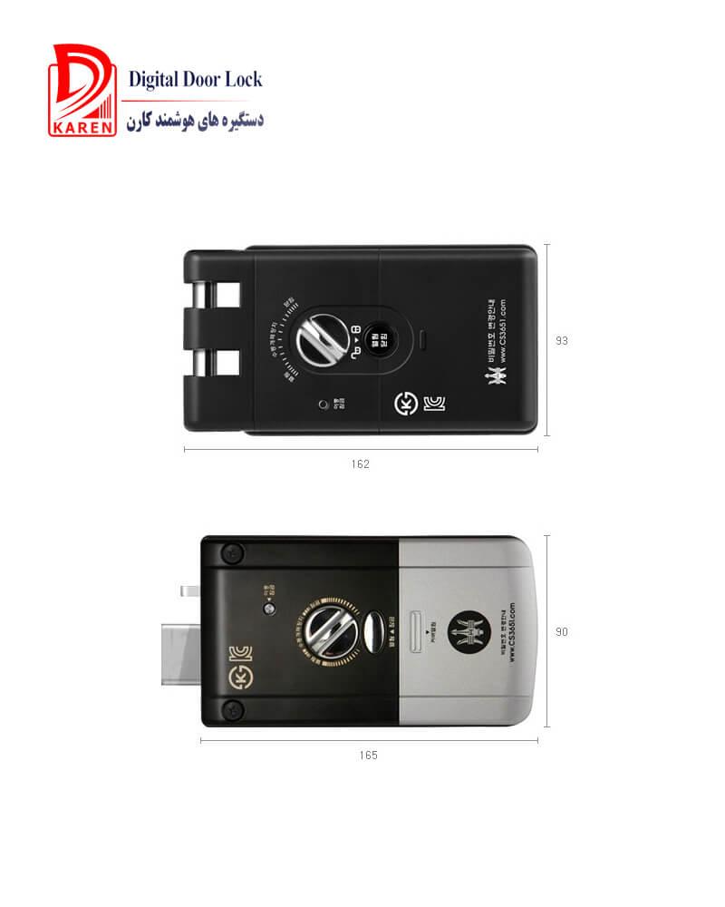 قفل دیجیتال H-GANG مدل GURRDIAN TR821 اثرانگشتی بدون دستگیره (شب بند دیجیتال)