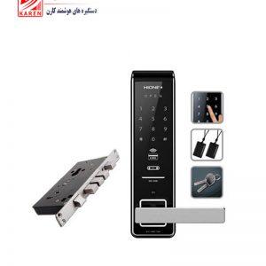 قفل دیجیتال HIONE مدل H2500 کارتی و رمزی همراه با کلید مکانیکی