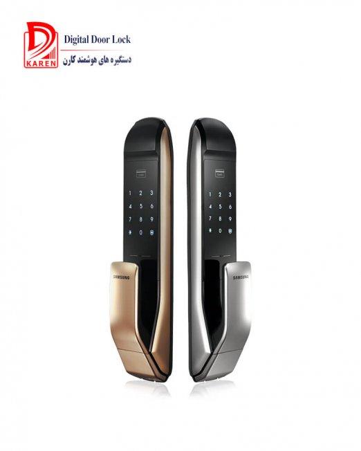قفل دیجیتال سامسونگ مدل SHP-DP820 رمزدار و کارتی با دستگیره PULL-PUSH