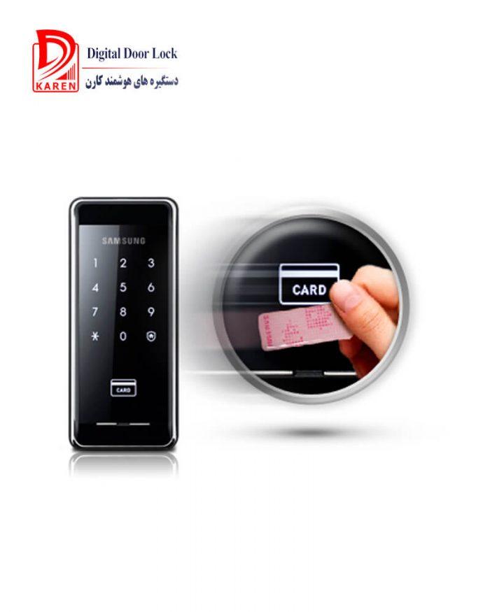 قفل دیجیتال سامسونگ مدل SHS-2920 کارتی بدون دستگیره (شب بند دیجیتال)