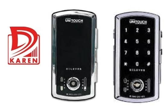 قفل دیجیتال UNITOUCH مدل PTI301 رمزی مخصوص شیشه سکوریت