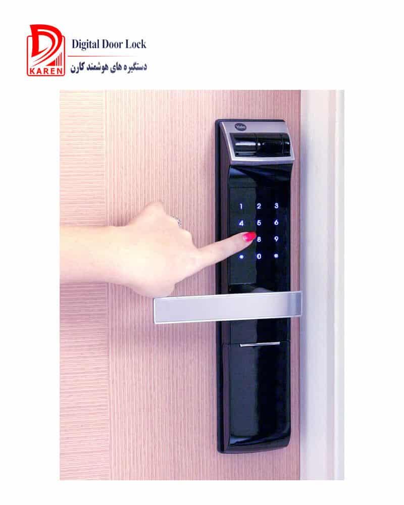 قفل دیجیتال ییل مدل YDM4109 دستگیره اثر انگشتی و رمزی