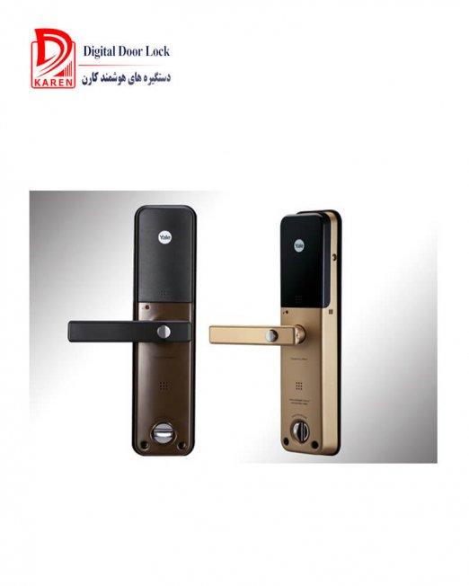 قفل دیجیتال ییل مدل YDM4111 اثرانگشتی و رمزی مجهز به شب بند