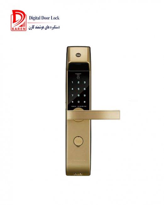 قفل دیجیتال ییل مدل YDM4216 دستگیره اثرانگشتی و رمزی با قفل اتوماتیک