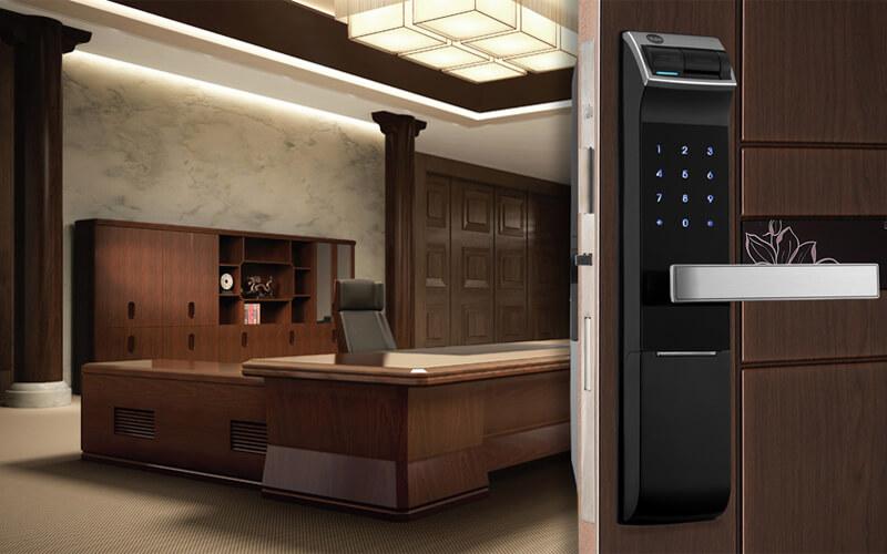 کاربرد قفل خودکار و ریموت کنترل قفل دیجیتال در اماکن اداری و پر رفت و آمد