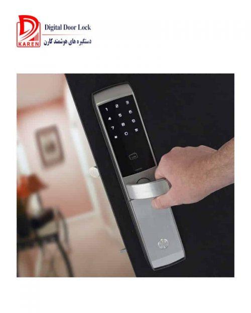 قفل دیجیتال ییل مدل YDM3168 کارتی و رمزی مجهز به سیستم ضد سرقت