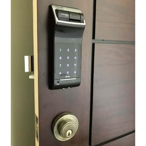 قفل بدون دستگیره گیت من WF-20 رمزی و اثر انگشتی