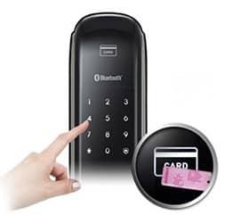 دسترسی به قفل با مکانیزم ورودی دوبل رمز و کارت