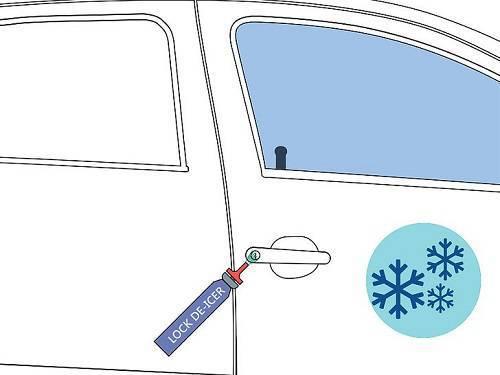 چگونه می توان قفل اتوماتیک یخ زده خودرو را باز کرد؟