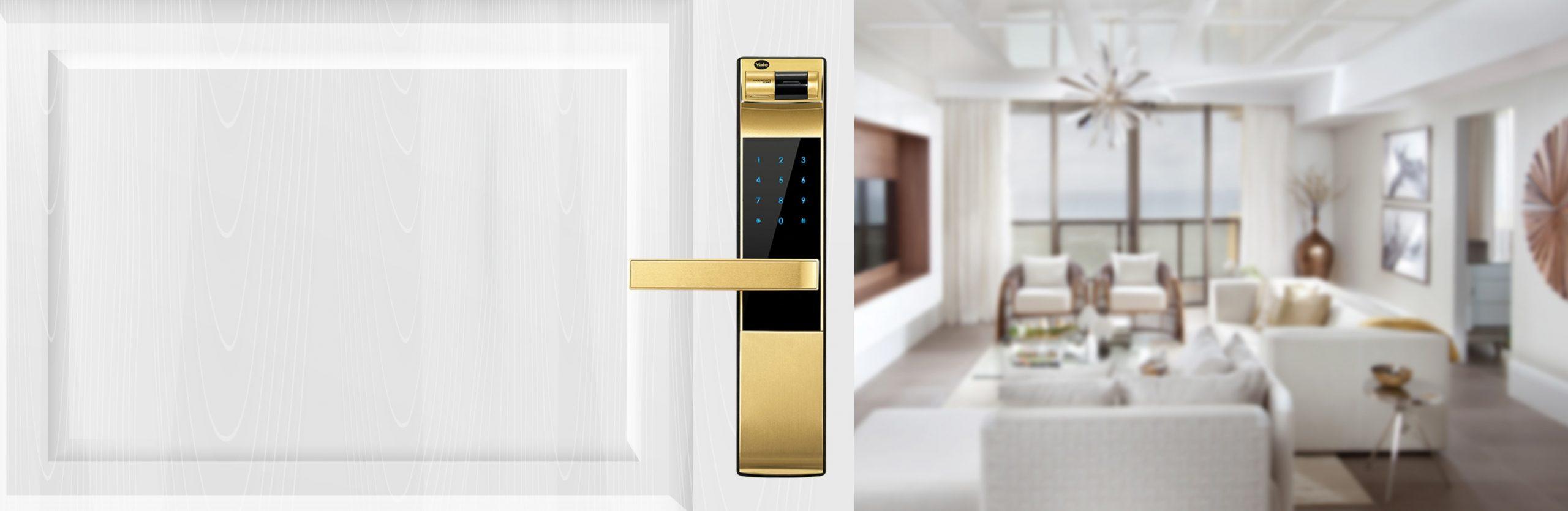 قفل دیجیتال طلایی یال YDM4109